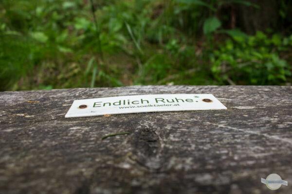 """""""Endlich Ruhe"""" Mottoschild"""