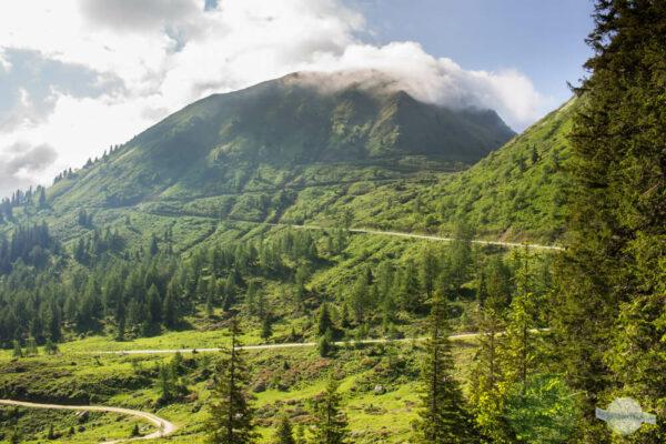 Sölkpass kurvige Straße über den Berg