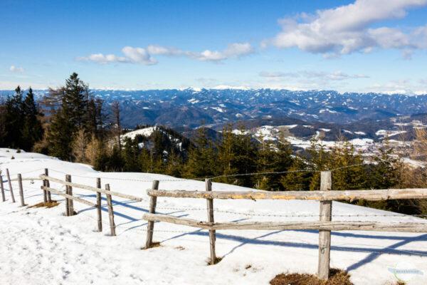 Blick vom Schöckl ins Grazer Bergland