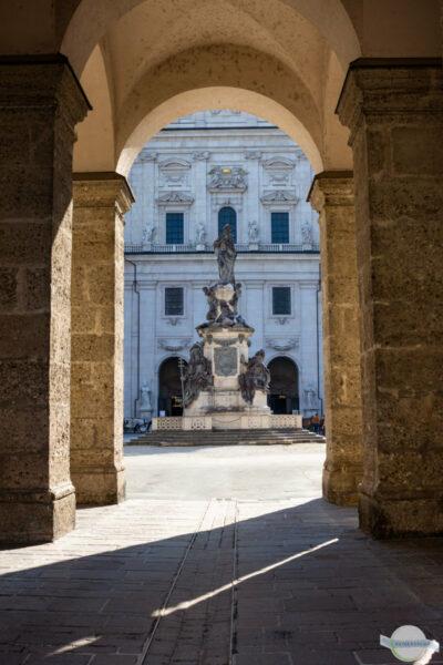 Krönung Marias in Salzburg beim Dom