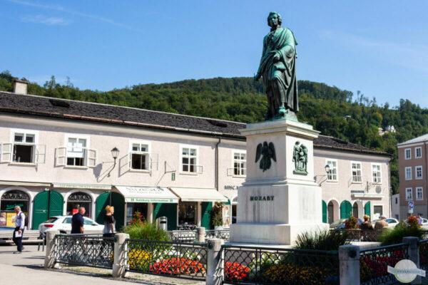 Mozartstatue in Salzburg